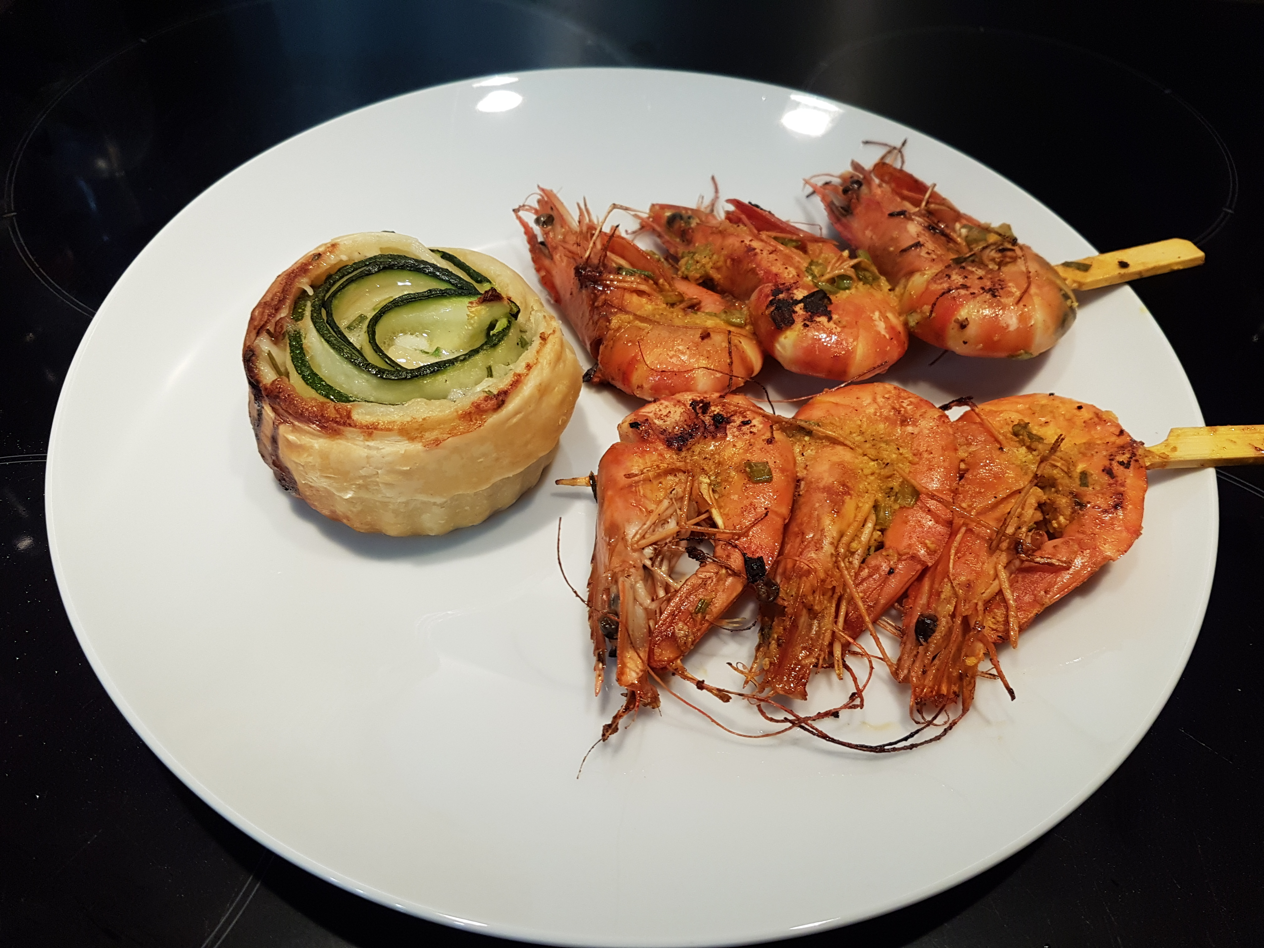 Recette de brochettes de gambas grill es - Accompagnement gambas grillees ...