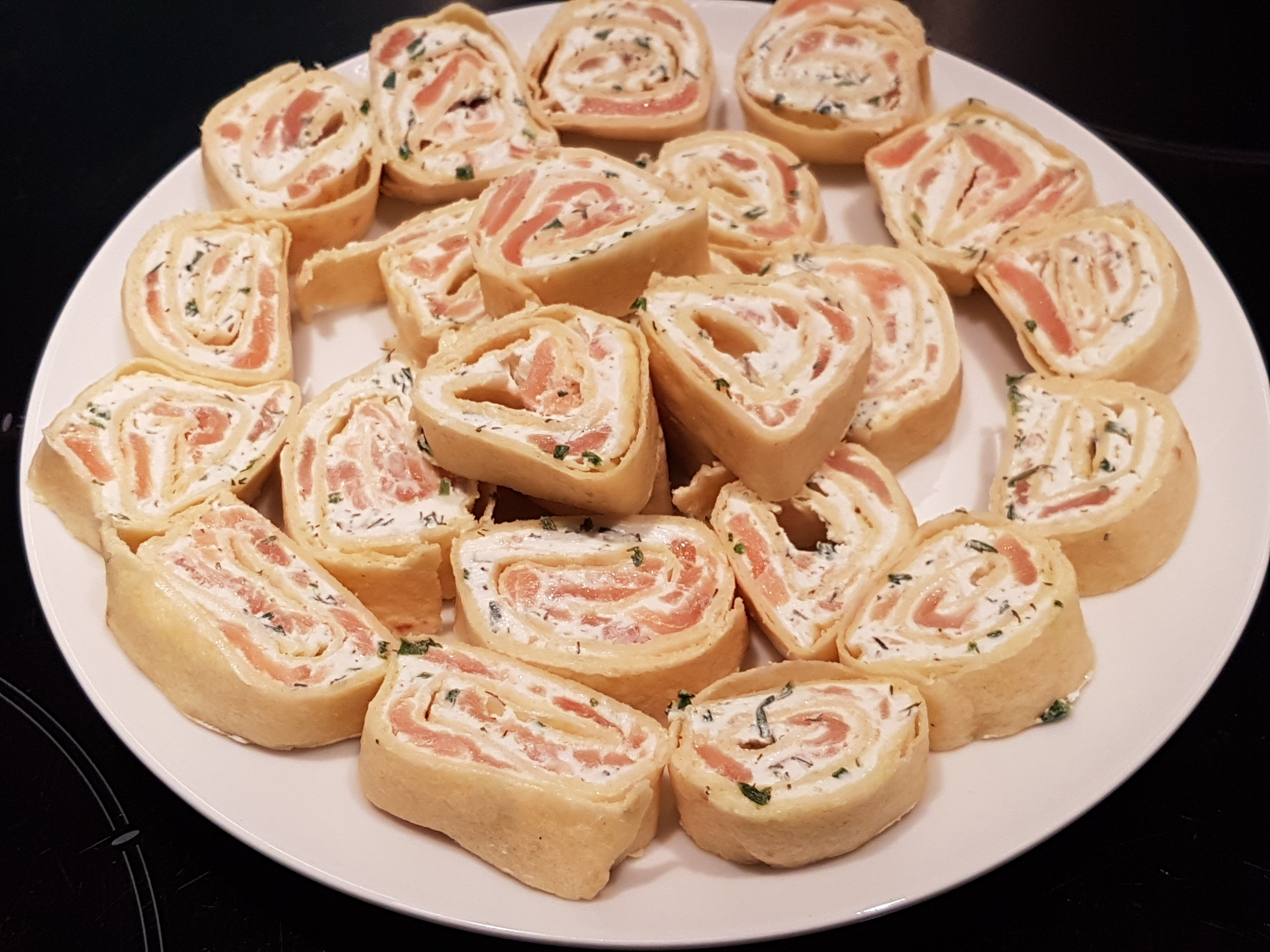 Recette wrap fromage-saumon-aneth
